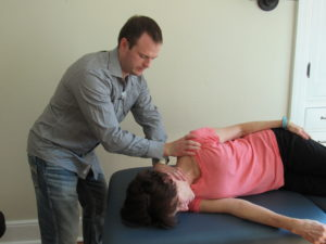 LEVATOR SCAPULA MANUAL STRETCH